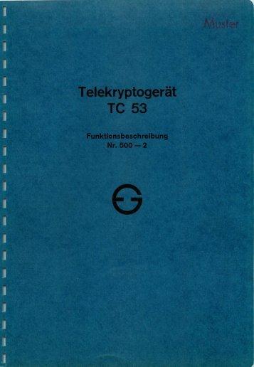 Telekryptogerat TC 53 - Crypto Museum