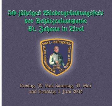 sch tzen festschrift 2003 - Feller - Schützenkompanie St. Johann in ...