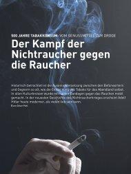 Der kampf der nichtraucher gegen die raucher