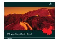 RWB Special Market Fonds • China I