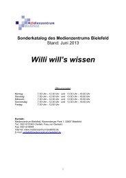 Willi will's wissen - Medienzentrum Bielefeld