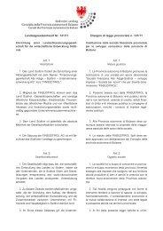 Zweisprachiger Ursprungstext - Südtiroler Landtag
