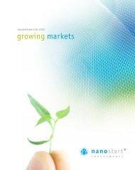 growing markets - Nanostart AG
