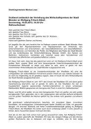Grußwort anlässlich der Verleihung des Wirtschaftspreises ... - Münster