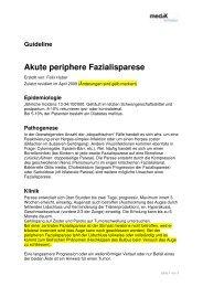 Guideline Akute periphere Fazialisparese