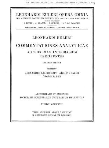Opera mathematica. Volumen undevicesimum ... - Wilbourhall.org