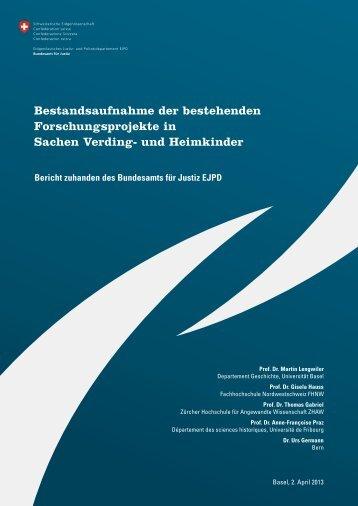 Bericht - Delegierter für Opfer von fürsorgerischen ...