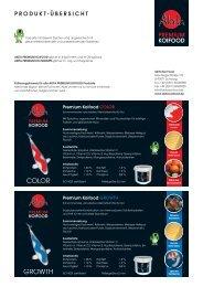 Produktübersicht 2009 - Akita Koi Food, Reinhold Hofmann