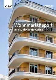 WohnmarktReport 2013 - GSW