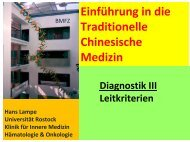 Diagnostik III (Puls) / O. hepaticus / Beispiel - Hämatologie und ...