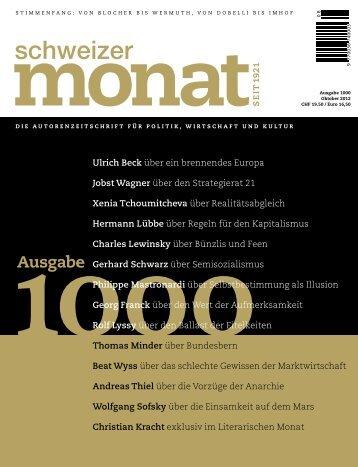 Ausgabe - Jobst Wagner