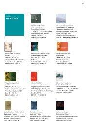 123 Backlist ARCHITEKTUR - Niggli Verlag