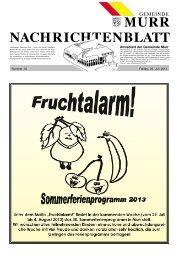 Nachrichtenblatt Nr. 30 vom 26. Juli 2013 - Gemeinde Murr