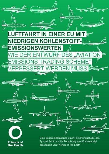 Luftfahrt in einer EU mit miedrigen kohlenstoff-emissionswerten