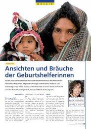 Ansichten und Bräuche der Geburtshelferinnen
