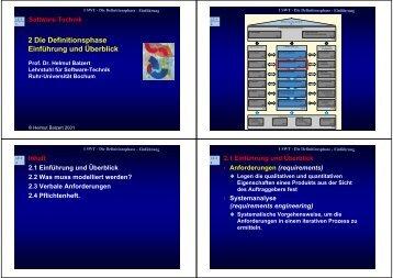 2 Die Definitionsphase Einführung und Überblick