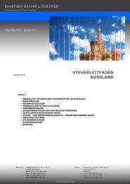 STEUERLEITFADEN RUSSLAND - brand & partner