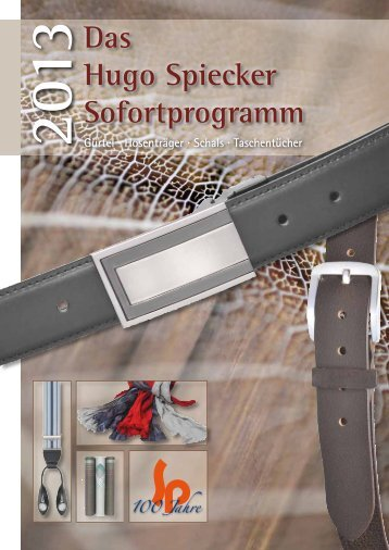 Das Hugo Spiecker Sofortprogramm - Hugo Spiecker GmbH + Co ...