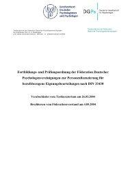 Fortbildungs- und Prüfungsordnung der Föderation ... - Psychologie.de