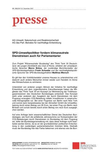 SPD-Umweltpolitiker fordern klimaneutrale ... - Marco Bülow