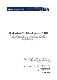 """Stricherstudie """"Östliches Ruhrgebiet"""" 2008 - SPI Forschung gGmbH"""