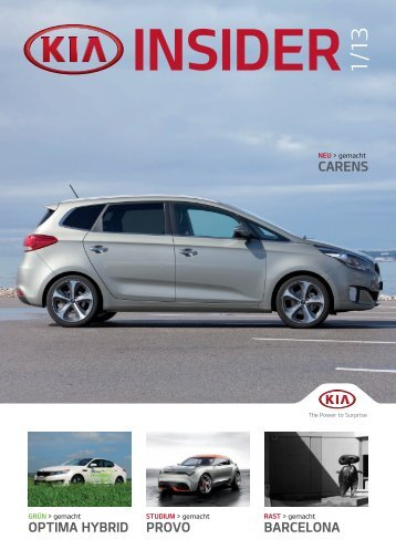 OPTIMA HYBRID PROVO BARCELONA CARENS - Kia Motors