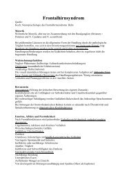 Frontalhirnsyndrom