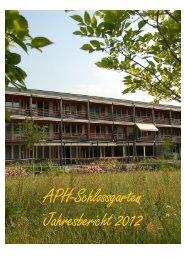 Jahresbericht - Alters- und Pflegeheim Schlossgarten