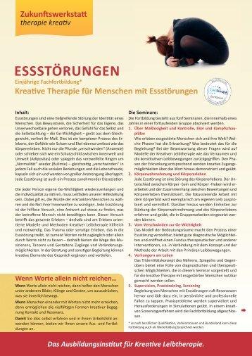 ESSStörunGEn - Zukunftswerkstatt therapie kreativ