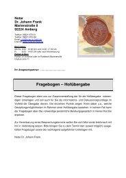 Fragebogen – Hofübergabe - Dr. Frank Johann