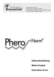 Gebrauchsanleitung Mode d'emploi Instructions of use - Andermatt ...