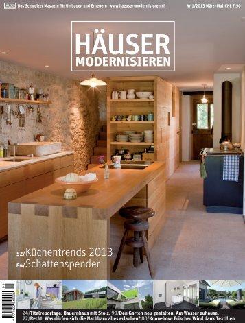 Haus Aentscherz Häuser modernisieren 2013_Nr1 März Mai - Bauzeit