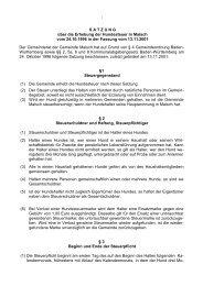 Hundesteuersatzung - Gemeinde Malsch