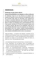 Radeberger Gruppe wieder offensiv - Radeberger Gruppe KG
