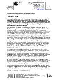 Todesfalle Glas - ca. 250.000 Scheibenopfer/Tag in ... - LBV München