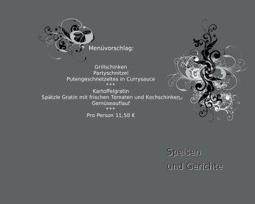 Menüvorschlag - Catering Richter (Schmallenberg)