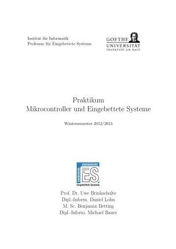 Praktikum Mikrocontroller und Eingebettete Systeme