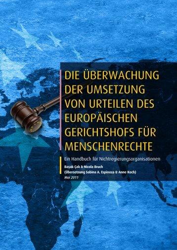die überwachung der umsetzung von urteilen des europäischen ...