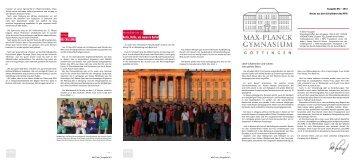 MPG-Info Ausgabe 2 / 2012 - Max-Planck-Gymnasium Göttingen