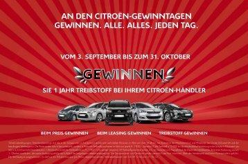 Wettbewerb Vom 3. September bis zum 31 ... - Citroën (Schweiz) SA