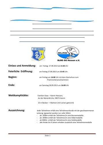 Ausschreibung (*.pdf) - DLRG - Heessen