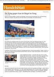 Naher Osten Der Krieg gegen Iran ist längst im Gang ... - Josef Joffe