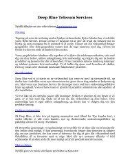Deep Blue Telecom Services