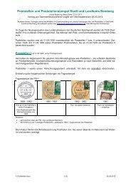 Poststellen Stadt und Landkreis Bamberg