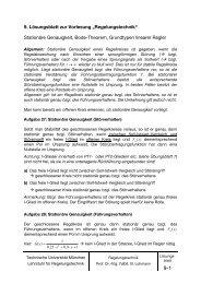s - Lehrstuhl für Regelungstechnik - Technische Universität München