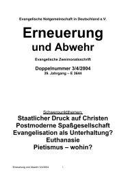 Staatlicher Druck auf Christen - Dr. Lothar Gassmann