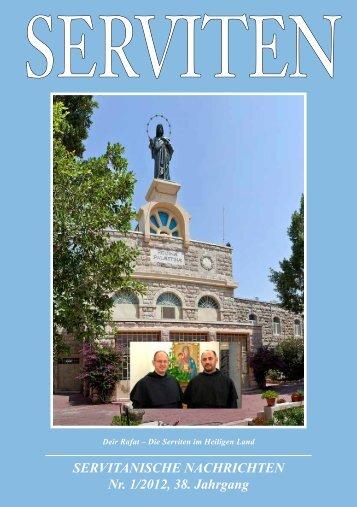 SERVITANISCHE NACHRICHTEN Nr. 1/2012, 38. Jahrgang