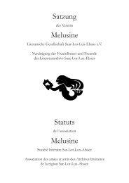 Satzung Melusine Statuts Melusine - Melusine Literarische ...