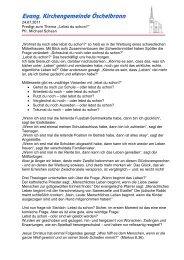 Predigt als PDF - Evangelische Kirchengemeinde Öschelbronn
