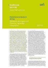 Energieversorgung in Afrika. Herausforderungen und Chancen ... - sef